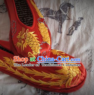 Chinese Handmade Embroidered Shoes Wedding Shoes Kung Fu Wushu Shoes Womens Shoes Opera Shoes Hanfu Shoes Dance Shoes