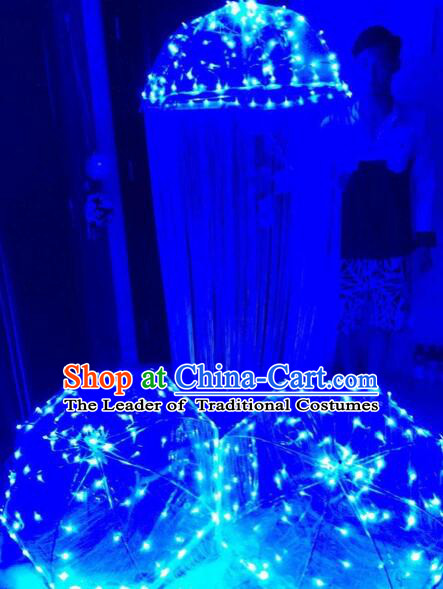 LED Jelly Fish Umbrella Professional Stage Performance Dancing Dance Props