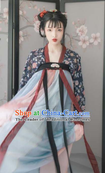 Ancient Chinese Clothing Traditional Hanfu Hanbok Kimono Dress National Costume Dresses Complete Set