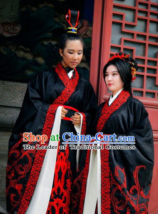 Ancient Chinese Royal Wedding Dresses Hanfu Classical Dress National Ceremonial Costumes Clothing and Crown Complete Set