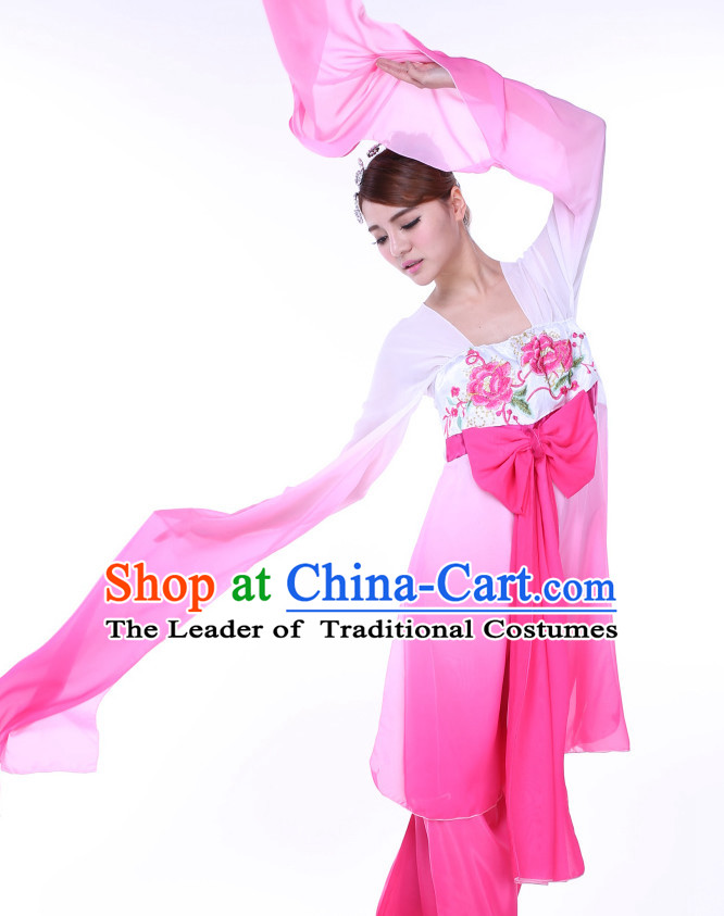 Chinese Water Sleeves Dance Costume Ribbon Dance Costumes Fan Dance Dancer Dancing Dresses for Women