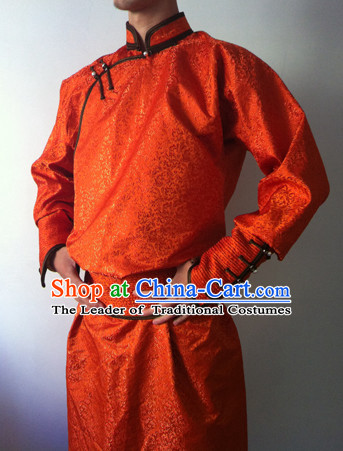 Chinese Mongolian Minority Mongol Men Dress Mongolia Minority Dresses Ethnic Mongolian Costume Complete Set