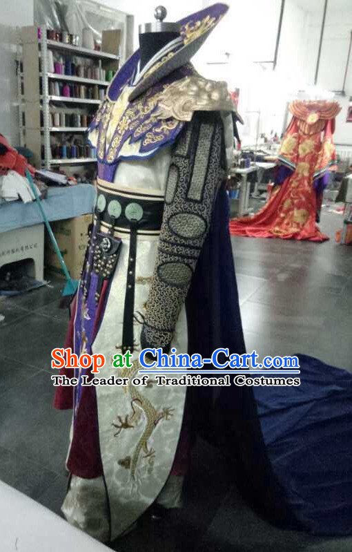 Top China Emperor Embroidered Robe Dragon Costumes Complete Set