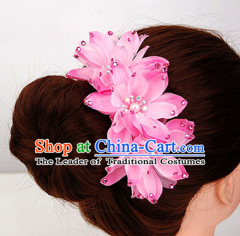 Traditional Chinese Flower Hair Decorations