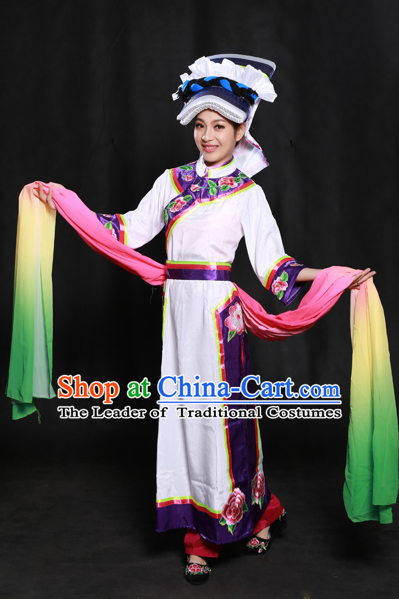 Chinese Minority Dresses Ethnic Clothing Minority Dance Costume Minority Dress Complete Set for Women
