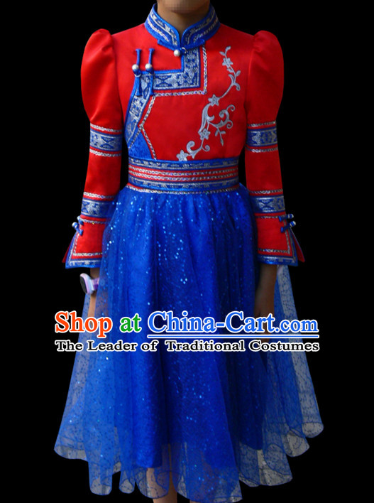 Mongolian Minority Mongol Mongolia Clothing Ethnic Traditional Costumes Complete Set