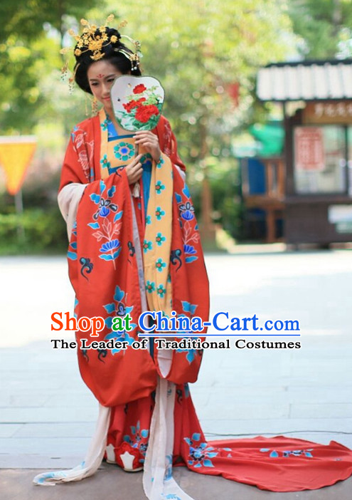 Traditional Chinese Ancient Tang Dynasty Clothing Imperial Wedding Dresses Beijing Classical Chinese Bridal Clothing