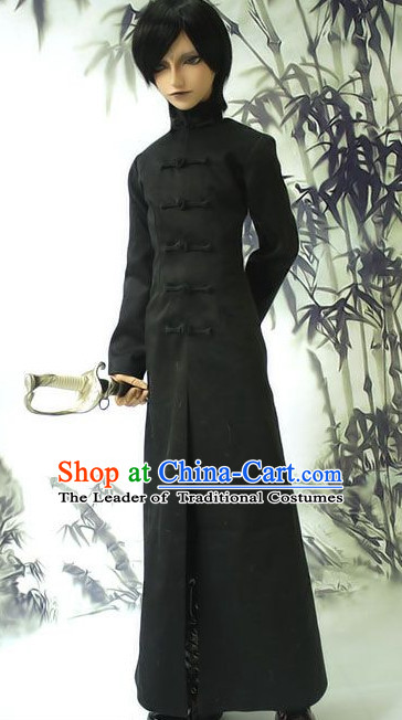 Men Dress Stage Performance Dresses Traditional Chinese Mandarin Clothing Hanfu Costume