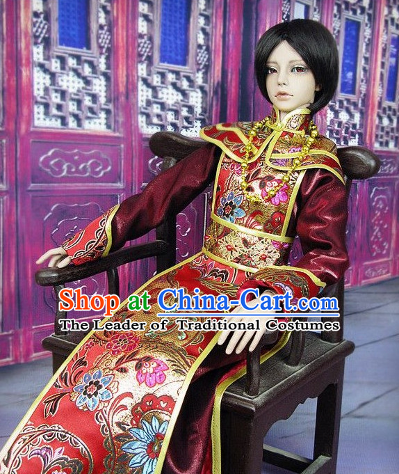 Men Emperor Dress Palace Stage Performance Dresses Traditional Chinese Mandarin Clothing Hanfu Costume
