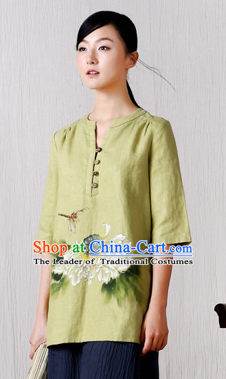 Top Chinese Classical Mandarin Blouse for Ladies