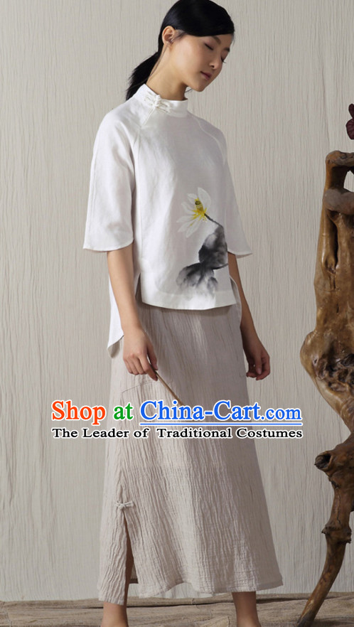 Top Chinese Traditional Handmade Skirt for Ladies