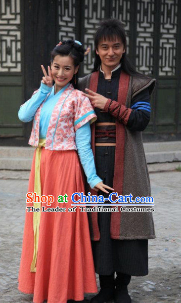 Ancient Chiinese Knight Samurai Costumes Hanfu Clothing for Men