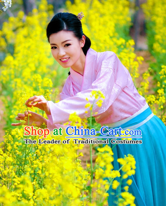 Traditional Chinese Stage Hanfu Costume Opera Historical Dress Complete Set for Women Girls