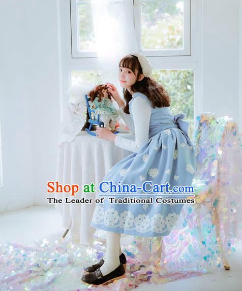 Traditional Classic Women Clothing, Traditional Classic Woolen Dress, British Restoring Ancient Embroidered Wool One-Piece Skirt for Women