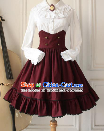 Traditional Classic Women Clothing, Traditional Classic Woolen High Waist Skirt,  Short Dress for Women