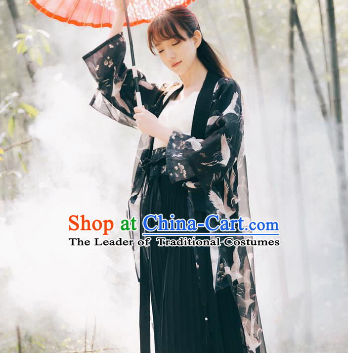 Traditional Classic Women Clothing Han Dynasty Costumes, Traditional Classic Chinese Chiffon Costume for Women
