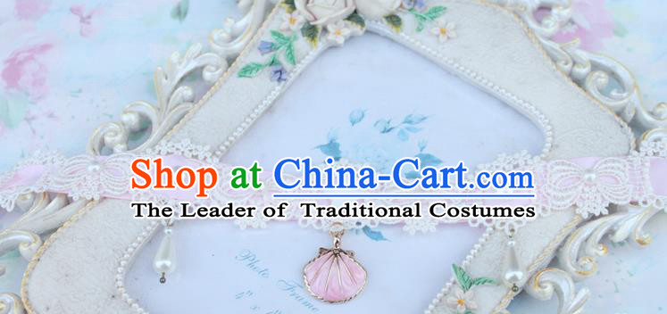 Traditional Classic Pearl Necklace Accessories, Restoring Ancient Lace Princess Necklace for Women