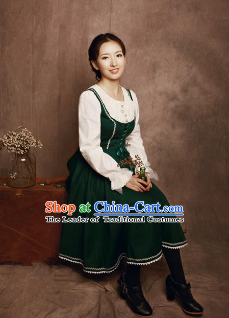 Traditional Classic Elegant Women Costume One-Piece Dress, Restoring Ancient Princess Jumper Simple Giant Swing Sundress for Women