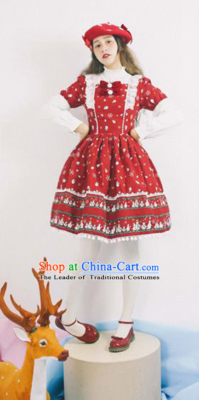 Traditional Classic Elegant Women Costume Sundress, Restoring Ancient Princess Christmas Dress Giant Swing Skirt for Women