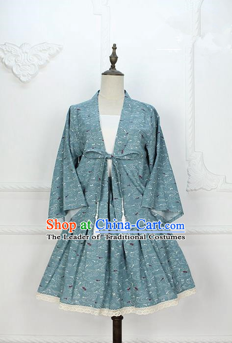 Traditional Japanese Restoring Ancient Kimono Costume Haori Smock, China Kimono Modified Cardigan for Women