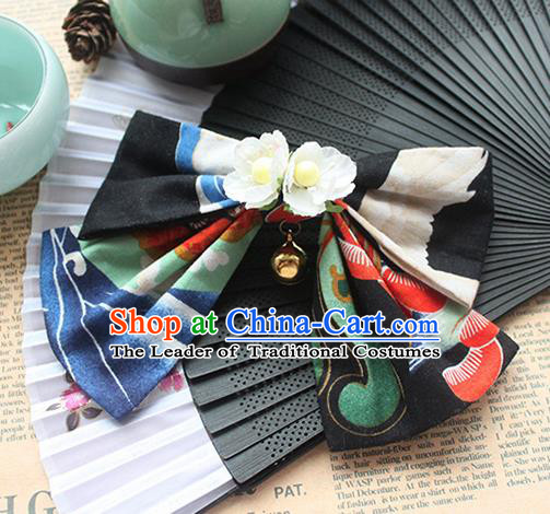 Traditional Japanese Restoring Ancient Kimono Hair Accessories, China Hanfu Hairpin Crane Hair Claw for Women