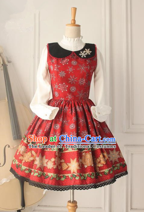 Traditional Classic Elegant Women Velvet Costume Sundress, British Restoring Ancient Princess Embroidered Christmas Jumper Skirt for Women