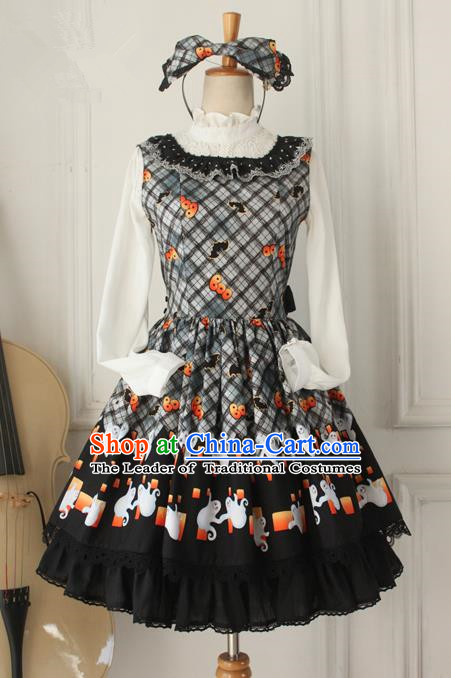 Traditional Classic Elegant Women Costume One-Piece Dress, Restoring Ancient Princess Halloween Jumper Skirt for Women