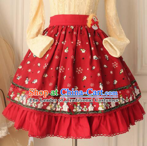 Traditional Classic Elegant Women Costume Bust Skirt, Restoring Ancient Princess Christmas Giant Swing Skirt for Women