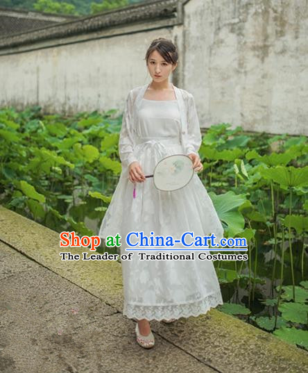 Traditional Classic Chinese Elegant Women Costume Ink Painting One-Piece Dress