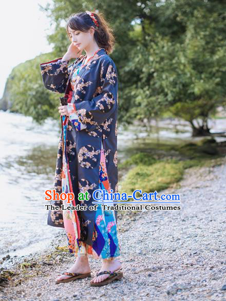 Traditional Japanese Restoring Ancient Kimono Costume Haori Smock
