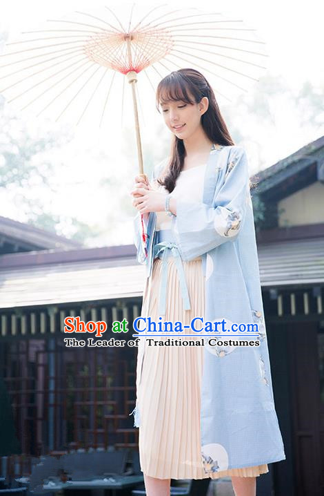 Traditional Japanese Restoring Ancient Kimono Costume Haori Smock, China Kimono Modified Coat Long Cardigan for Women