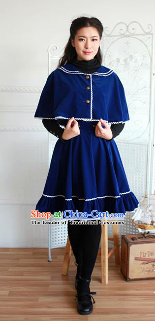 Traditional Classic Elegant Women Costume Complete Set Cloak and Dust Coat Bust Skirt, Restoring Ancient Cape and Coat Skirt for Women