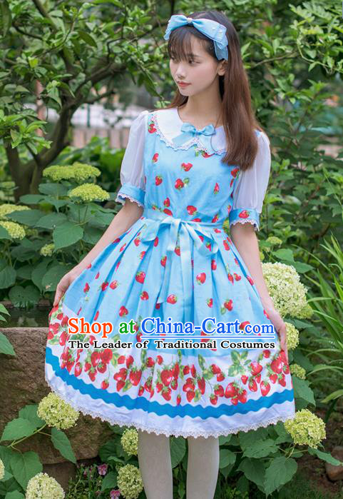 Traditional Classic Elegant Women Costume One-Piece Dress, Restoring Ancient Princess Bubble Skirt Giant Swing Sweet Dress for Women