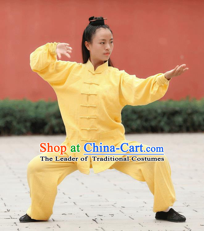 Traditional Chinese Wudang Uniform Taoist Uniform Kungfu Kung Fu Clothing Clothes Pants Shirt Supplies Wu Gong Outfits, Chinese Tang Suit Wushu Clothing Tai Chi Suits Uniforms for Women