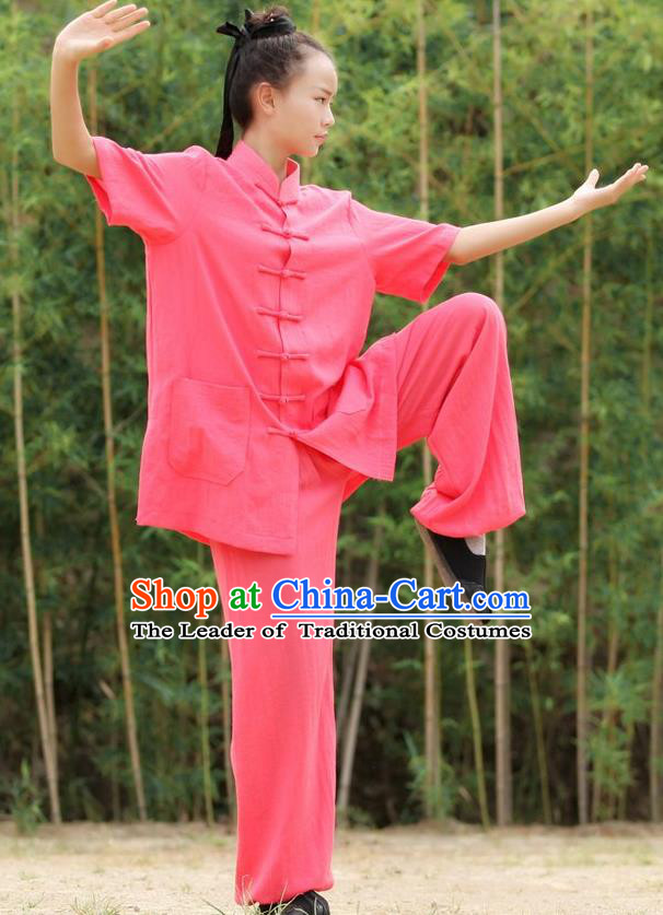 Top Kung Fu Costume Martial Arts Kung Fu Training Uniform Gongfu Shaolin Wushu Clothing for Women