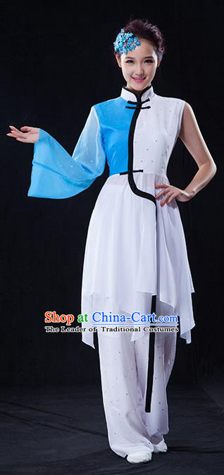 Traditional Chinese Classical Yangko Dance Dress, Yangge Fan Dancing Costume Umbrella Dance Suits, Folk Dance Yangko Costume for Women