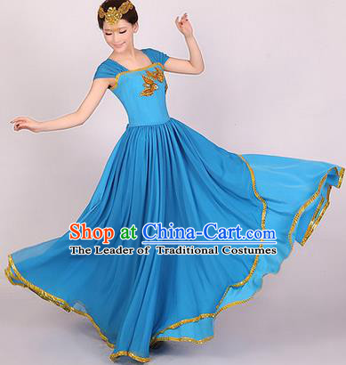 Traditional Chinese Classic Stage Performance Chorus Singing Group Dress Modern Waltz Dance Costumes, Chorus Competition Costume, Compere Costumes for Women