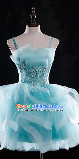 Traditional Chinese Classic Stage Performance Chorus Modern Ballet Dance Costumes Bubble Dress, Chorus Competition Costume, Compere Costumes for Women