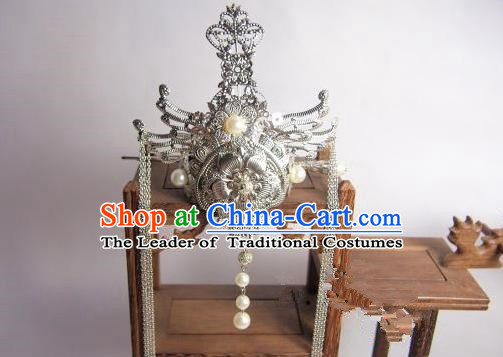 Traditional Chinese Ancient Jewelry Accessories, Ancient Chinese Imperial Princess Wedding Hair Phoenix Coronet, China Wedding Hairpin  for Women