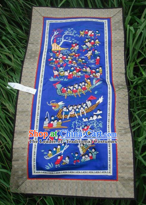 Traditional Chinese Miao Nationality Classic Hand Made Embroidery Flake-One Hundred of Children