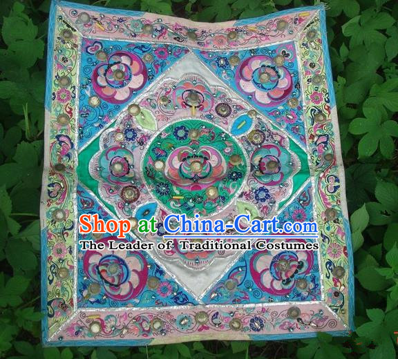 Traditional Chinese Miao Nationality Classic Hand Made Profile Embroidery Flake