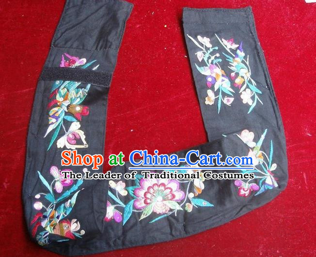 Traditional Chinese Miao Nationality Embroidery Belts, Hmong Handmade Embroidery Belt for Women