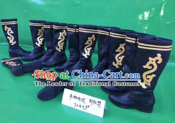 Traditional Chinese Minority Mongol Nationality Ethnic Minorities Mongolian Dance Cowhide Boots Mongolian Knee Boots Jockey Boots Tanks Boots