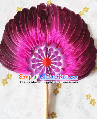 Feather Fans Goose Feather Stage Show Dance properties Purple