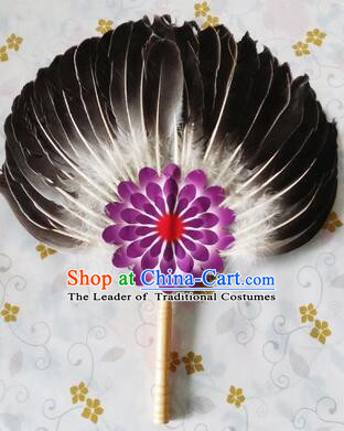 Feather Fans Goose Feather Stage Show Dance properties Grey