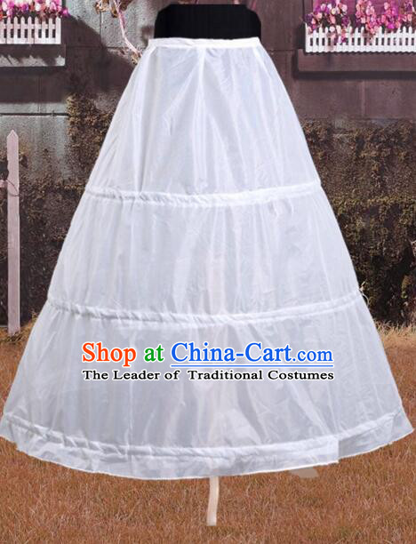 Wedding Crinoline For Bride Band Bubble Skirt Steel Circle Support Inner skirt for Full Dress