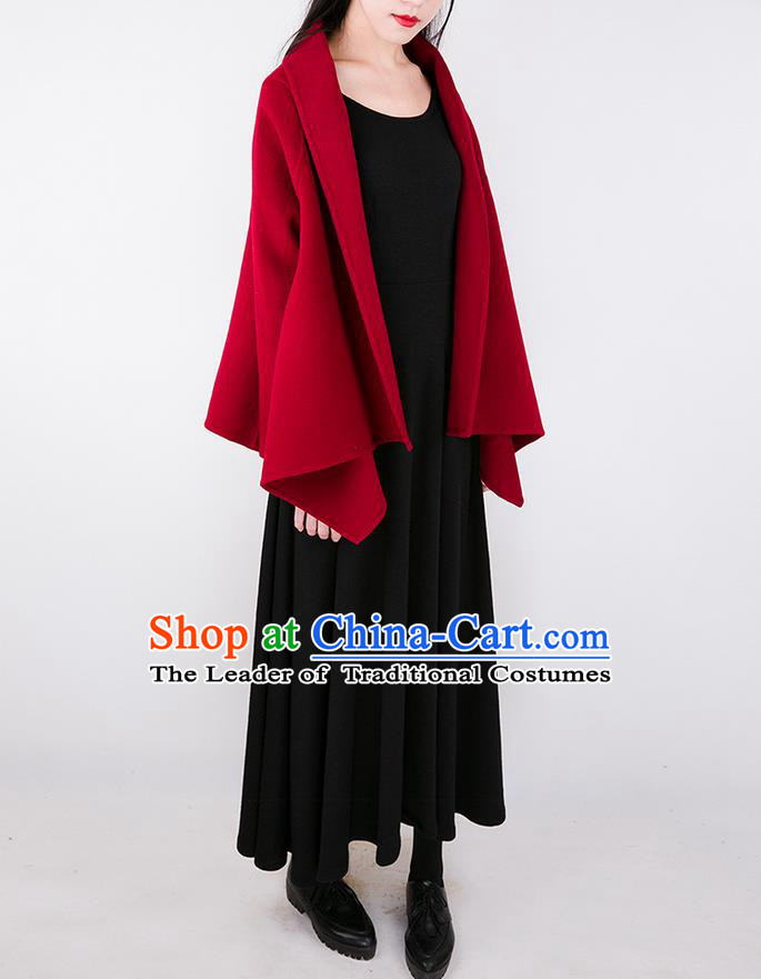 Traditional Classic Women Clothing, Traditional Classic Black Woolen Evening Dress Restoring Woolen Garment Skirt Braces Skirt, Long Skirt