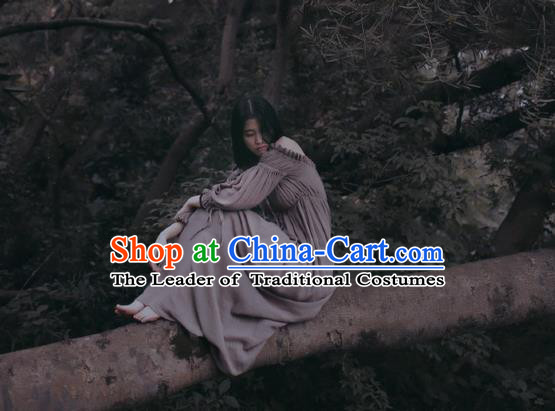 Traditional Classic Women Clothing, Traditional Classic Elegant Double Yarn Brought Restoring Boat Neck Even Garment Skirt