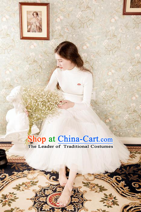Traditional Classic Women Clothing, Traditional Classic Emulation Silk Chiffon Elegant Short Veil Dress Restoring Garment Skirt Bust Skirt
