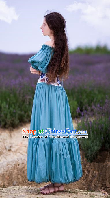 Traditional Classic Women Clothing, Traditional Classic Knit Cotton Embroidery Waist Strapless Evening Dress Restoring Garment Skirt Braces Skirt